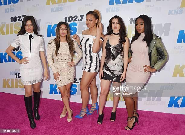 Singers Camila Cabello, Ally Brooke, Dinah-Jane Hansen, Lauren Jauregui and Normani Hamilton of Fifth Harmony attend the 102.7 KIIS FM's Wango Tango...