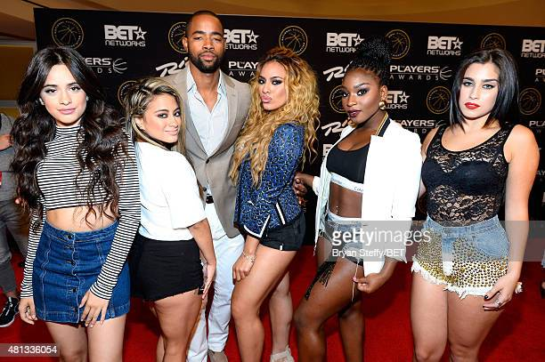 Singers Camila Cabello and Ally Brooke of Fifth Harmony actor Jay Ellis and singers Dinah Jane Hansen Normani Kordei and Lauren Jauregui of Fifth...