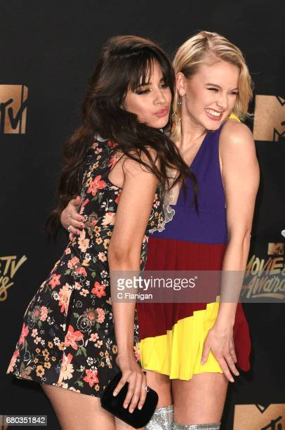 Singers Camila Cabello and Zara Larsson attend the 2017 MTV Movie and TV Awards at The Shrine Auditorium on May 7 2017 in Los Angeles California