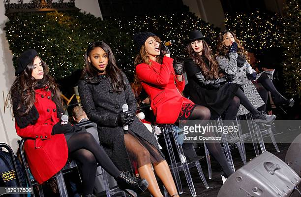 Singers Camila Cabello Normani Hamilton Dinah Jane Hansen Lauren Jauregui and Ally Brooke of the group Fifth Harmony perform onstage at the Lord...