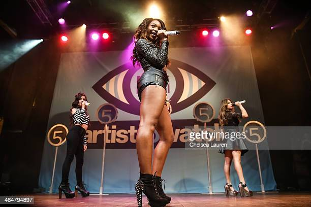 Singers Camila Cabello, Normani Koredi and Ally Brooke of Fifth Harmony perform at MTV Artist to Watch kickoff event at House of Blues Sunset Strip...