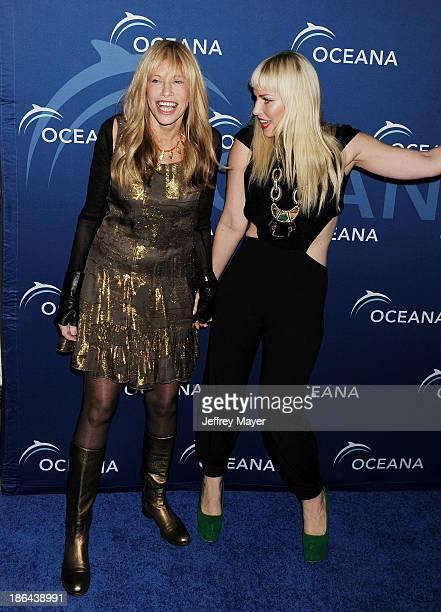 Singers Carly Simon and Natasha Bedingfield arrive at the Oceana Partners Award Gala With Former Secretary Of State Hillary Rodham Clinton and HBO...