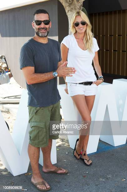 Singers Carolina Cerezuela and Jaume Anglada attend the 37th Copa del Rey Mapfre Sailing Cup on August 1 2018 in Palma de Mallorca Spain