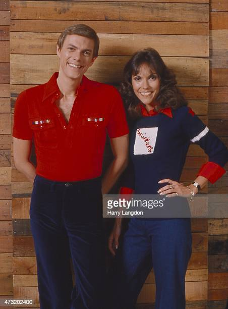 Singers Carpenters poses for a portrait in 1977 in Los Angeles California