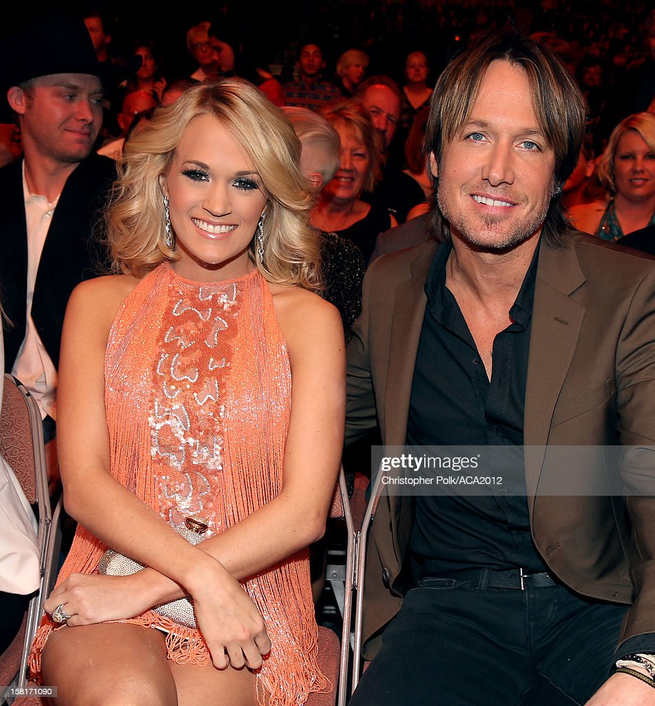Singers Carrie Underwood and Keith Urban attend the 2012 American Country Awards at the Mandalay Bay Events Center on December 10, 2012 in Las Vegas, Nevada.