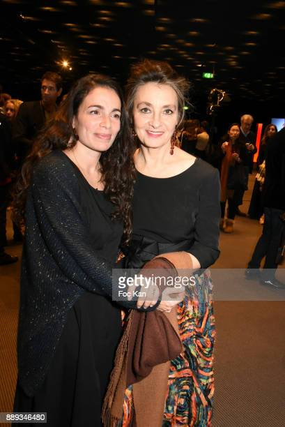Singers CatherineRinger and Yael Naim attend Celebration Of Gabriel Yared's Film Music At The Philharmonie De Paris on December 9 2017 in Paris France