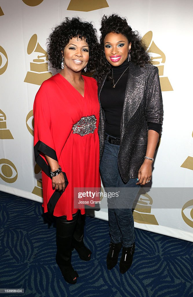 Singers CeCe Winans (L) and Jennifer Hudson attend 'We Will Always Love You: A GRAMMY Salute to Whitney Houston' at Nokia Theatre L.A. Live on October 11, 2012 in Los Angeles, California.
