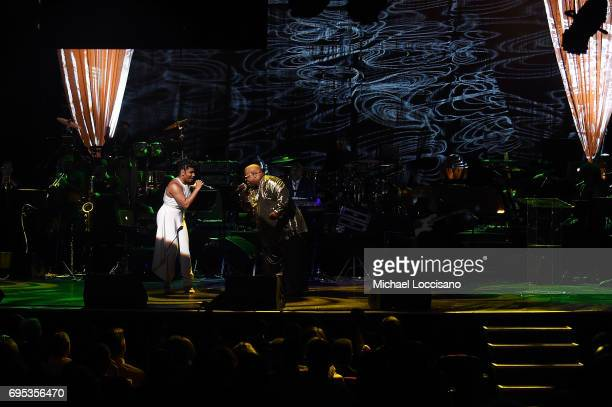 Singers CeeLo Green and We McDonald perform during the Apollo Spring Gala 2017 at The Apollo Theater on June 12 2017 in New York City