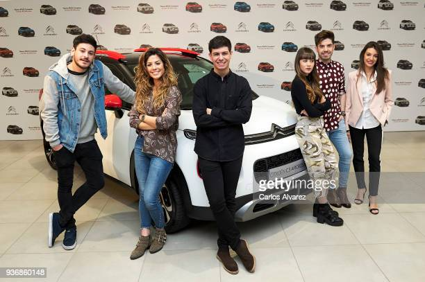 OT Singers Cepeda Miriam Alfred Aitana Roi and Ana present the new SUV Compacto Citroen C3 Aircross on March 23 2018 in Madrid Spain