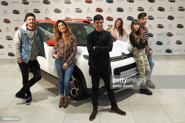 OT Singers Cepeda Miriam Alfred Ana Aitana and Roi present the new SUV Compacto Citroen C3 Aircross on March 23 2018 in Madrid Spain