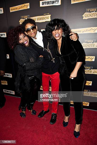 Singers Chaka Khan B Howard and Miki Howard arrive at the 7rh annual Roots Jam Session at the Music Box Theatre on February 12 2011 in Hollywood...