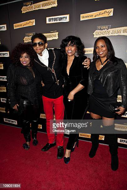 Singers Chaka Khan B Howard Miki Howard and Mary Brown arrive at the 7rh annual Roots Jam Session at the Music Box Theatre on February 12 2011 in...