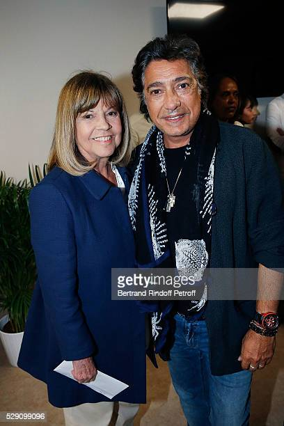 Singers Chantal Goya and Frederic Francois attend the Michel Polnareff New Tour in France at AccorHotels Arena on May 07 2016 in Paris