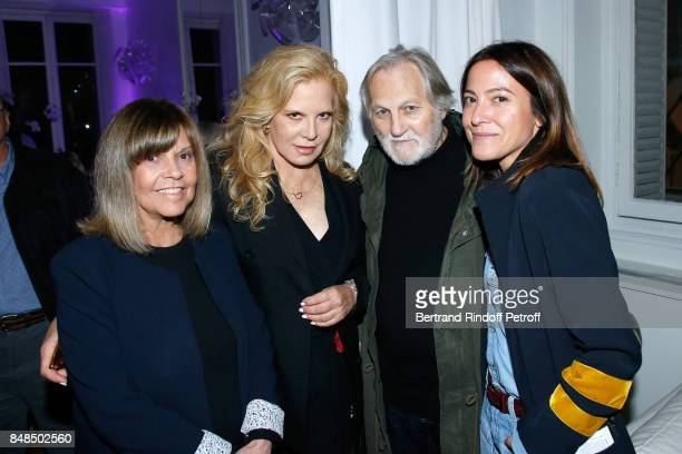 Singers Chantal Goya, Sylvie Vartan, Jean-Jacques Debout and Keren Ann attend the Dinner after Sylvie Vartan performed at L'Olympia on September 16,...