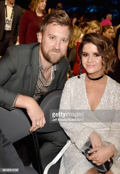Singers Charles Kelley and Maren Morris attend the 52nd Academy Of Country Music Awards at T-Mobile Arena on April 2, 2017 in Las Vegas, Nevada.