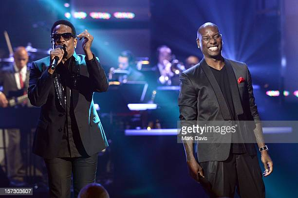 Singers Charlie Wilson and Tyrese perform onstage during UNCF's 33rd annual An Evening Of Stars held at Pasadena Civic Auditorium on December 1 2012...