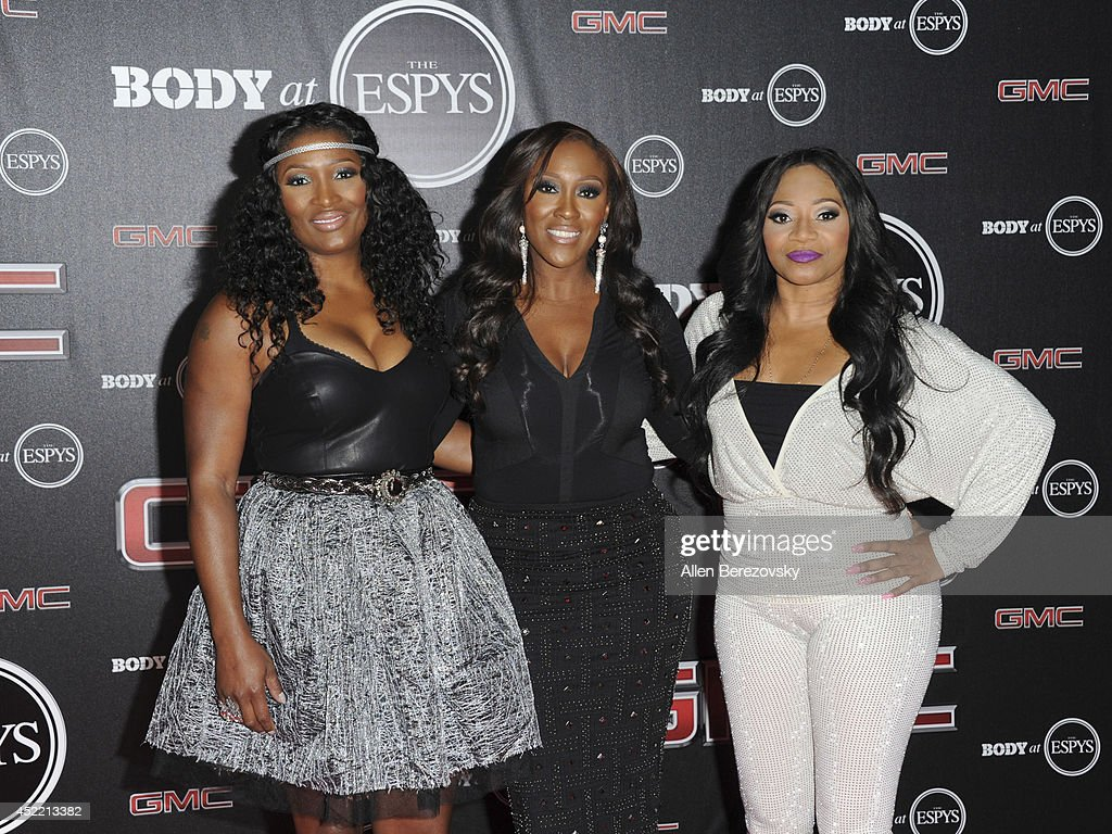Singers Cheryl Gamble, Tamara Johnson and Leanne Lyons of SWV attend ESPN Presents BODY At ESPYS Pre-Party at Lure on July 15, 2014 in Hollywood, California.