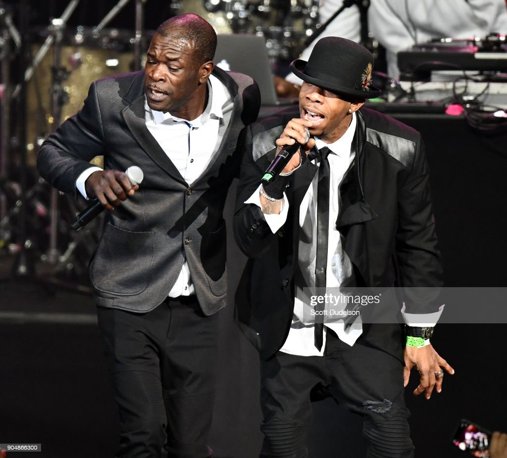Singers Chris Dalyrimple and Jason Dalyrimple of the R&B group Soul for Real perform onstage at Microsoft Theater on January 13, 2018 in Los Angeles, California.