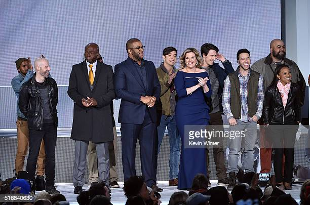 Singers Chris Daughtry Seal host Tyler Perry singers Trisha Yearwood and Prince Royce appear in 'The Passion' an epic musical event airing LIVE from...