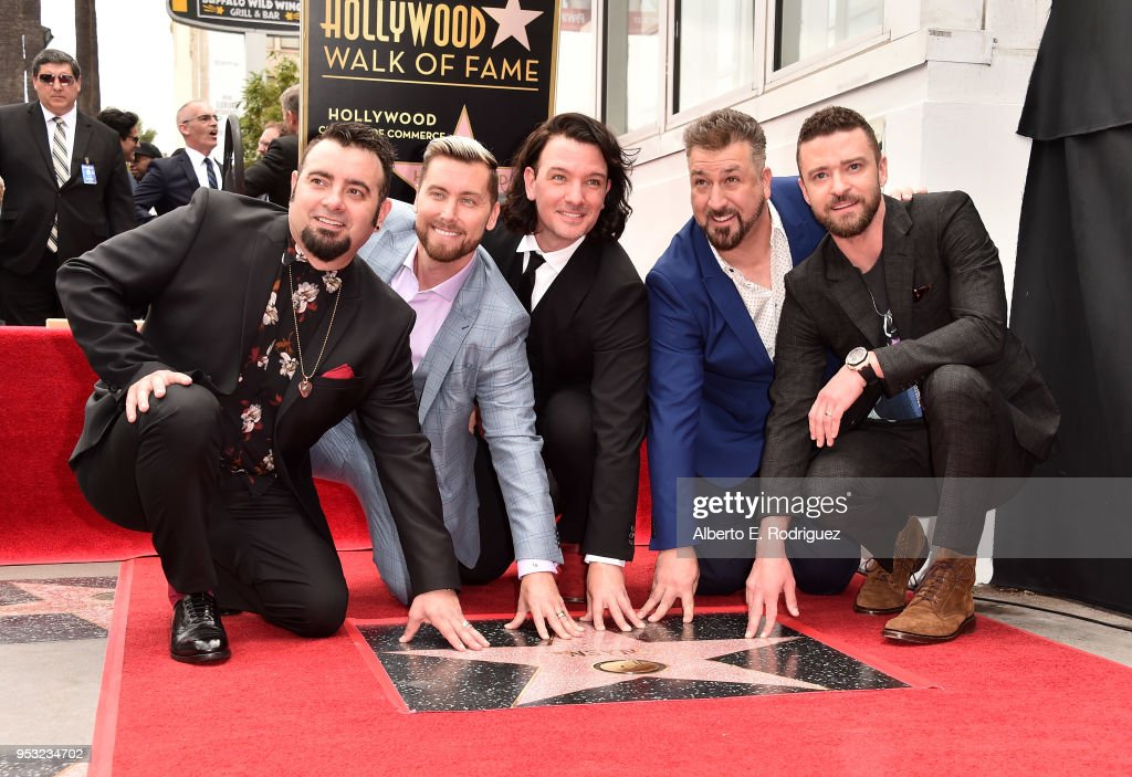 *NSYNC Honored With Star On The Hollywood Walk Of Fame
