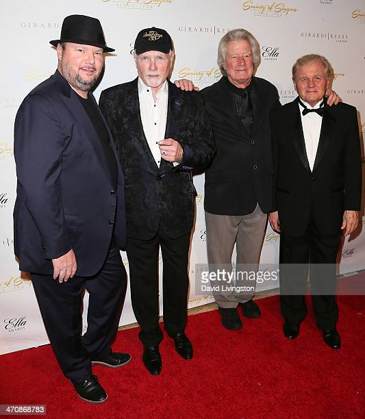 Singers Christopher Cross Mike Love Dean Torrence and Bruce Johnston attend the 21st Annual ELLA Awards at The Beverly Hilton Hotel on February 20...