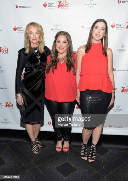 Singers Chynna Phillips Carnie Wilson and Wendy Wilson of Wilson Phillips attend the 3rd annual Rock The Red Music Benefit presented by the American...