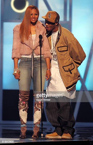 Singers Ciara and Chingy present onstage during the 2004 Billboard Music Awards at the MGM Grand Arena on December 8 2004 in Las Vegas Nevada