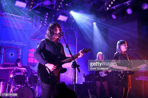 Singers Conor Oberst and Phoebe Bridgers perform onstage with their side project Better Oblivion Community Center at Teragram Ballroom on March 13...