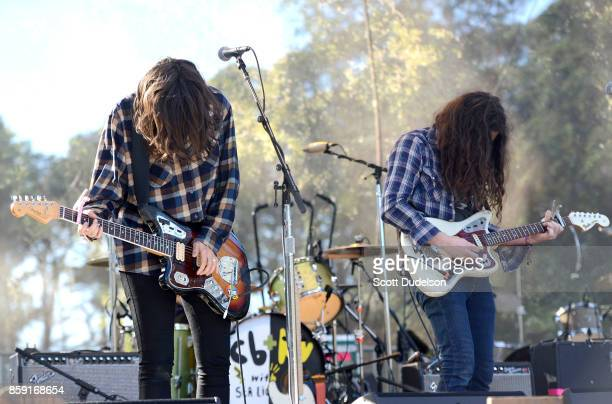 Singers Courtney Barnett and Kurt Vile perform onstage during Hardly Strictly Bluegrass festival at Golden Gate Park on October 8 2017 in San...