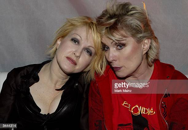 """Singers Cyndi Lauper and Debbie Harry mingle at the after party for the 7th Annual VH1 """"Divas"""" Concert Benefiting The Save The Music Foundation at..."""