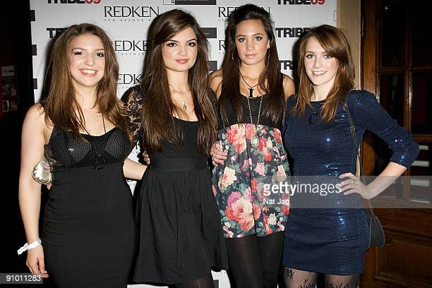 Singers Daisy Chute Melonie Nakhla Maura Wright and Charlotte Ritchie of All Angels attends the Redken Tribe Party at KOKO on September 21 2009 in...