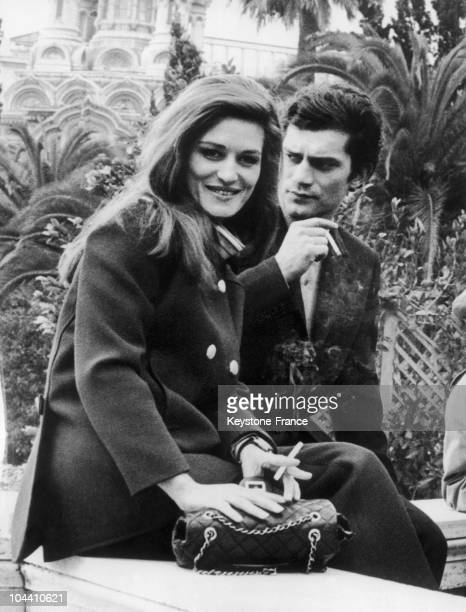Singers DALIDA and Luigi TENCO in Milan in February 1967.