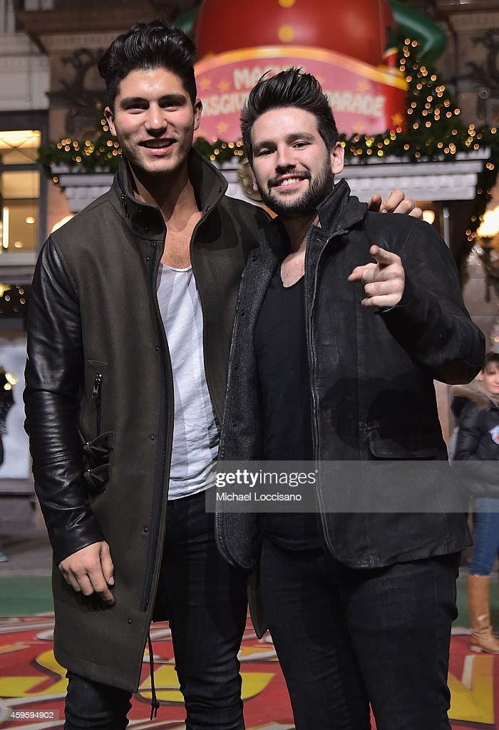 Singers Dan Smyers and Shay Mooney aka Dan + Shay take part in the 88th Annual Macy's Thanksgiving Day Parade day 2 rehearsals on November 25, 2014 in New York City.