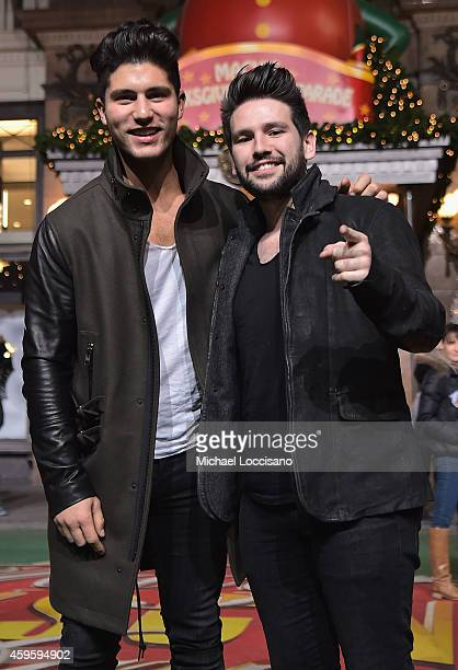 Singers Dan Smyers and Shay Mooney aka Dan Shay take part in the 88th Annual Macy's Thanksgiving Day Parade day 2 rehearsals on November 25 2014 in...