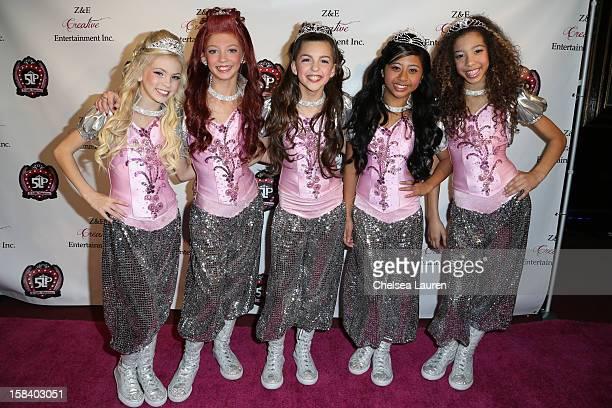 Singers / dancers Jordyn Jones, Kyla Laufer, Hailey Paolillo, Anna Villaranda and Aspen Buck arrive at the 5 Little Princesses music showcase at...