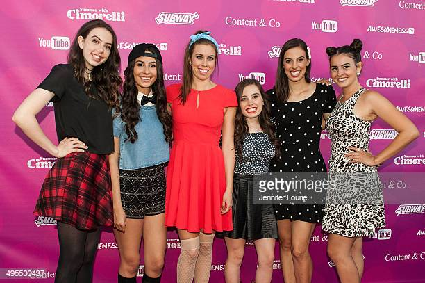Singers Dani Cimorelli Lauren Cimorelli Christina Cimorelli Amy Cimorelli Katherine Cimorelli and Lisa Cimorelli of the band Cimorelli attends the...