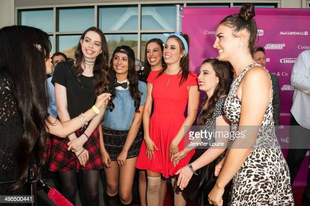 Singers Dani Cimorelli Lauren Cimorelli Christina Cimorelli Amy Cimorelli Katherine Cimorelli and Lisa Cimorelli of the band Cimorelli attends the...