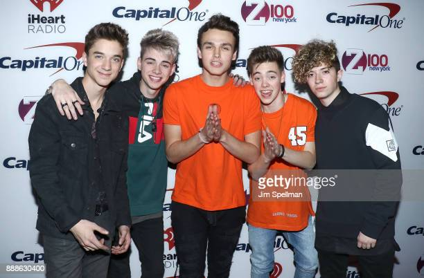 Singers Daniel Seavey Corbyn Besson Jonah Marais Zach Herron and Jack Avery from Why Don't We attend the Z100's iHeartRadio Jingle Ball 2017 at...