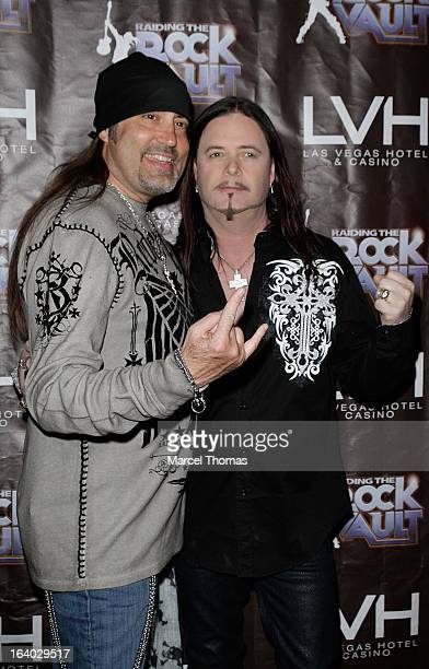 Singers Danny Koker and John Payne attend the Raiding the Rock Vault VIP opening and red carpet at the LVH Hotel Casino on March 18 2013 in Las Vegas...