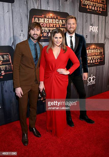Singers Dave Haywood Hillary Scott and Charles Kelley of Lady Antebellum attend the 2014 American Country Countdown Awards at Music City Center on...