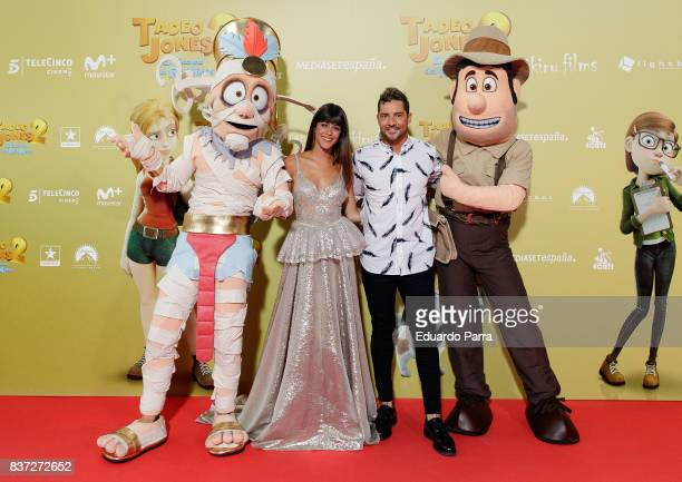 Singers David Bisbal and Martina Stoessel attend the 'Tadeo Jones 2 El secreto del Rey Midas' premiere at Kinepolis cinema on August 22 2017 in...
