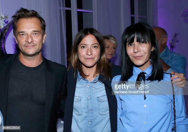 Singers David Hallyday Keren Ann and stylist Bouchra Jarrar attend the Dinner after Sylvie Vartan performed at L'Olympia on September 16 2017 in...