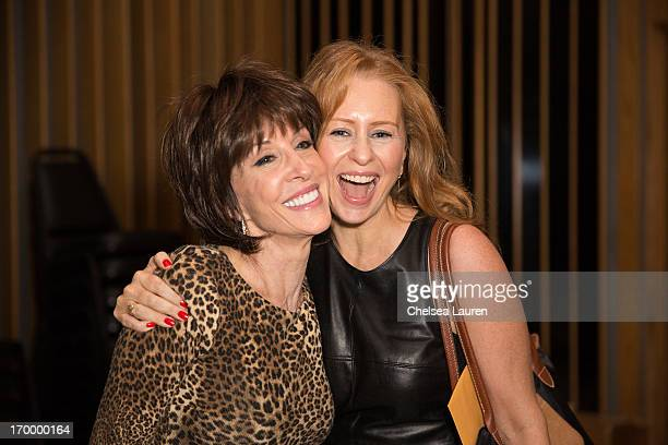 Singers Deana Martin and Daisy Torme attend the Siriusly Sinatra Father's Day Show at Capitol Records Studio on June 5 2013 in Hollywood California