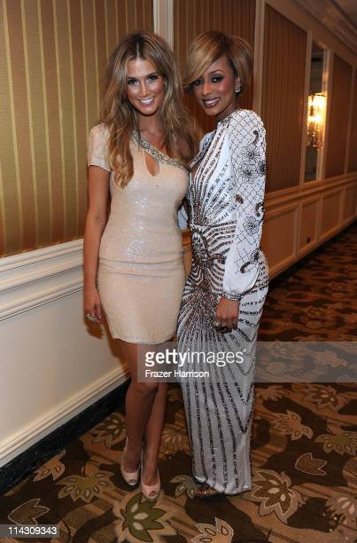 Singers Delta Goodrem and Keri Hilson attend the 59th Annual BMI Pop Awards at the Beverly Wilshire Four Seasons Hotel on May 17 2011 in Beverly...