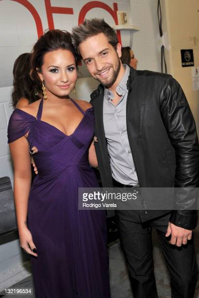 Singers Demi Lovato and Pablo Alboran attend the 12th Annual Latin GRAMMY Awards held at the Mandalay Bay Events Center on November 10 2011 in Las...