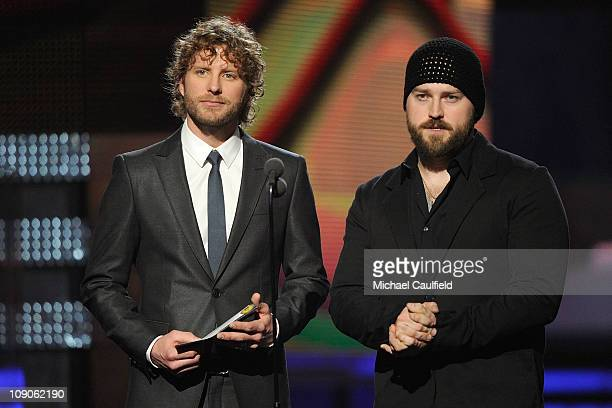 Singers Dierks Bentley and Zac Brown onstage during The 53rd Annual GRAMMY Awards held at Staples Center on February 13 2011 in Los Angeles California