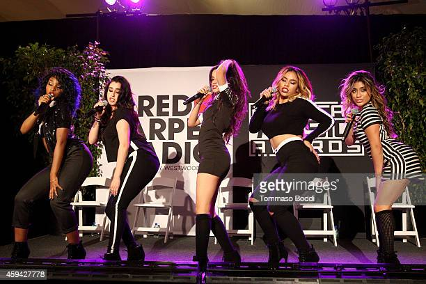 Singers Dinah Jane Hansen Normani Hamilton Camila Cabello Lauren Jauregui and Ally Brooke of '5th Harmony' attend Red Carpet Radio presented by...