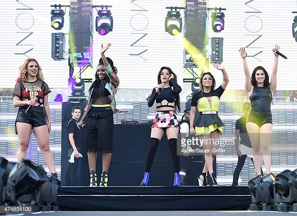 Singers Dinah Jane Hansen, Normani Kordei, Camila Cabello, Ally Brooke and Lauren Jauregui of Fifth Harmony perform at the 102.7 KIIS FM's Wango...