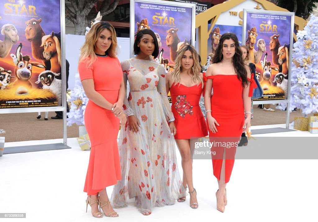 Singers Dinah Jane, Normani Kordei, Ally Brooke and Lauren Jauregui of Fifth Harmony attend the premiere of Columbia Pictures' 'The Star' at Regency Village Theatre on November 12, 2017 in Westwood, California.