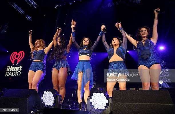 Singers Dinah Jane Normani Kordei Camila Cabello Ally Brooke Hernandez and Lauren Jauregui of Fifth Harmony perform onstage during 1035 KISS FM's...